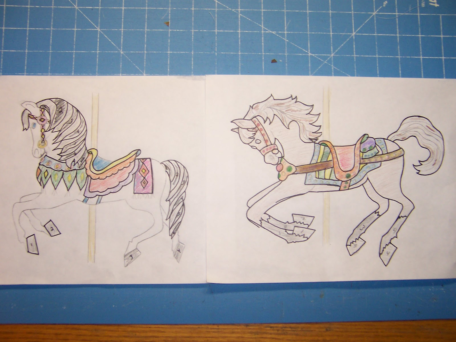 Janes Quilting Carousel Horses