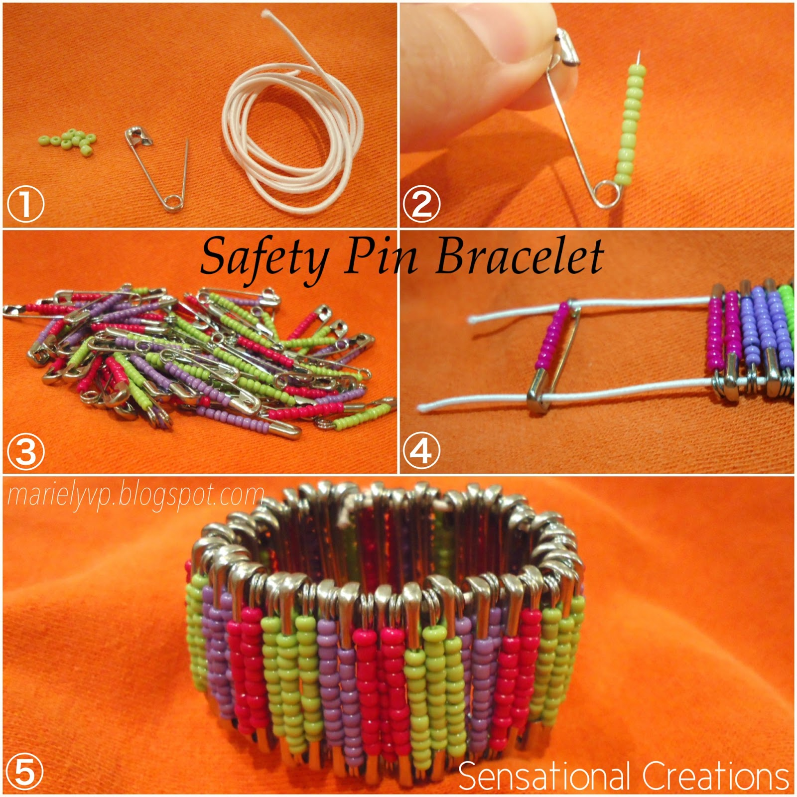 We read diy safety pin bracelet for Safety pin and bead crafts