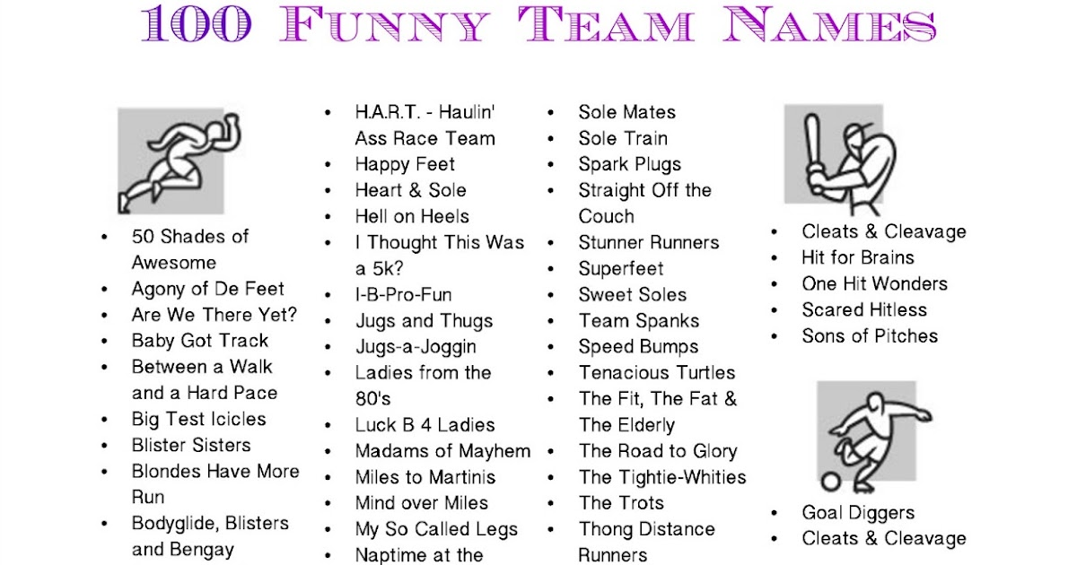 Funny Game Show Team Names | Jobs Online