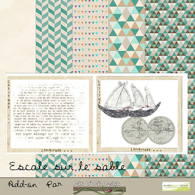 Kit Escale sur le Sable - Publiscrap - Clin d'oeil Design