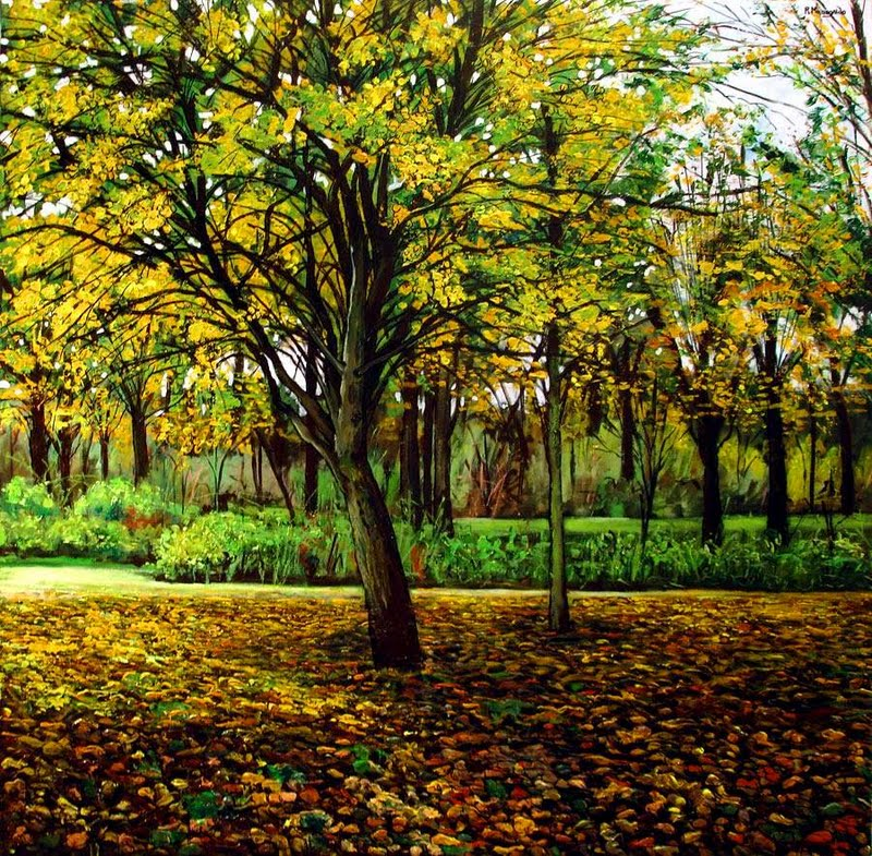 Pinturas cuadros lienzos paisajes y flores - Acrilico sobre lienzo ...