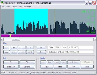 mp3DirectCut , audio cutters, Audio editing softwares, mp3 editors , freewares, windows softwares, linux softwares , mp3 cutters for linux