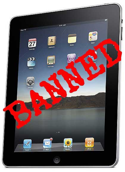 china ipad banned