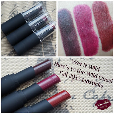 Wet N Wild Here's to the Wild Ones Fall 2015 Lipsticks