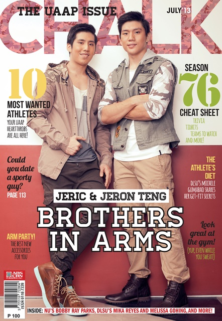 Jeric and Jeron Teng Cover Chalk July 2013 | Mag Reveals 10 Most Sought-After Basketball Players this Season