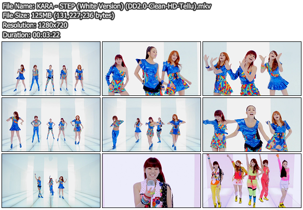 [MV] KARA   STEP (White Version) (Clean HD 720p) (x264)