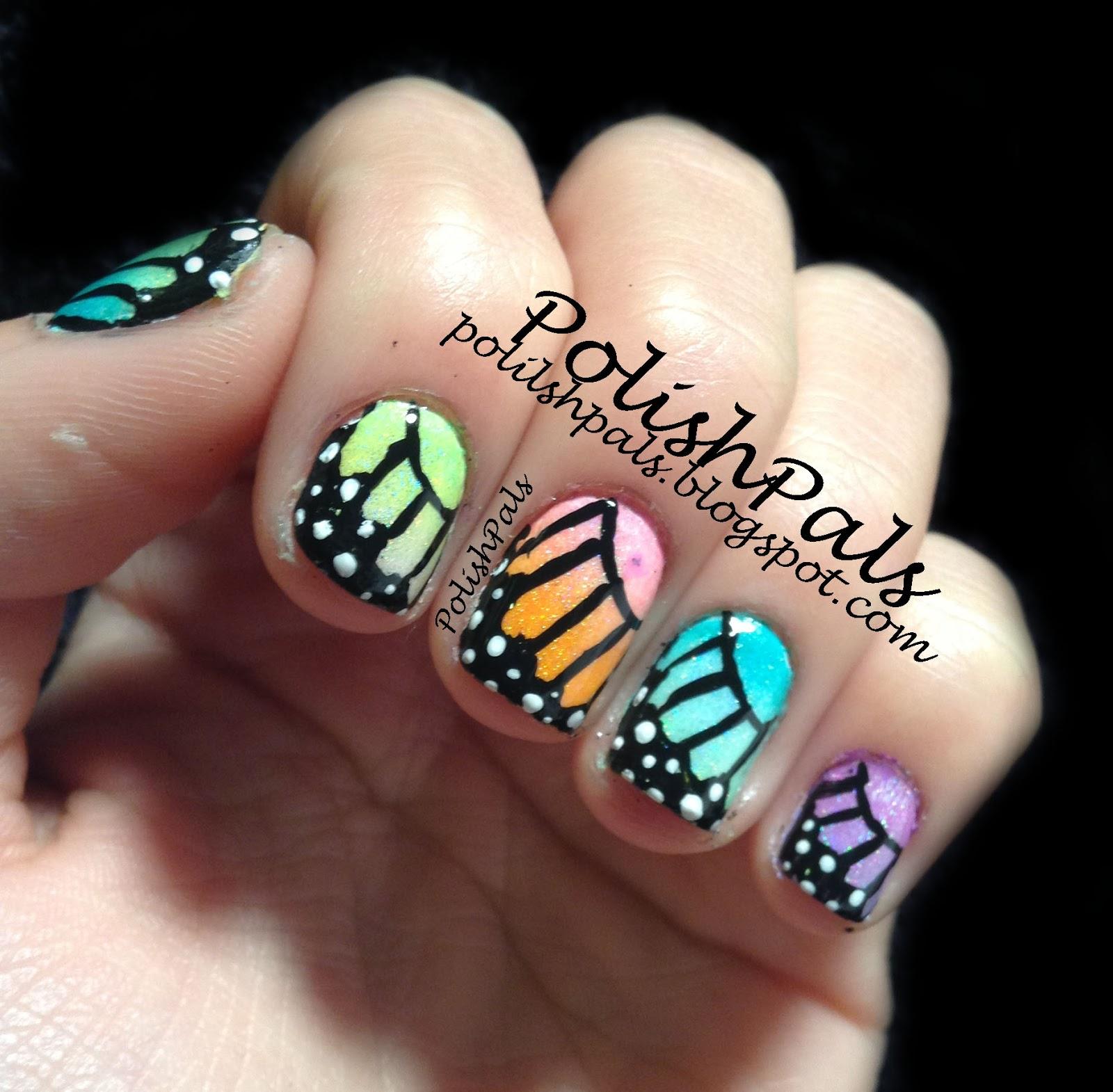 Polish Pals: Rainbow Butterfly Nails! (& Mini Tutorial
