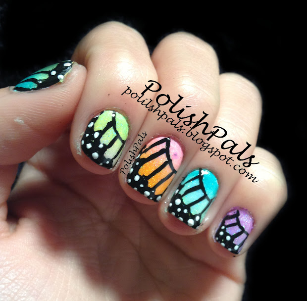 polish pals rainbow butterfly