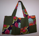 Quilt Tote Bag Handbag Purse Bolero Colorful Flowers