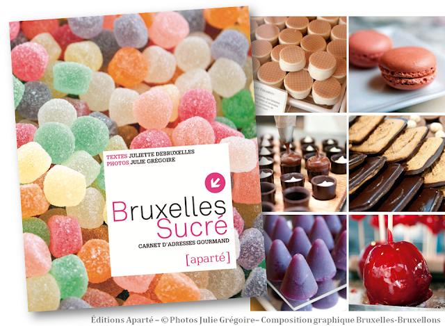 Bruxelles Sucré - Carnet d'adresses gourmand (Auteur: Juliette Debruxelles - Photographe: Julie Grégoire - éditions Aparté) - Lectures bruxelloises - Bruxelles-Bruxellons