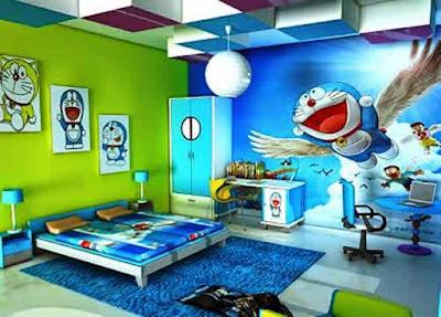 Desain Kamar Tidur Anak Doraemon