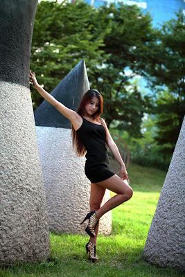 Cha Jung Ah Sexy Black Dress