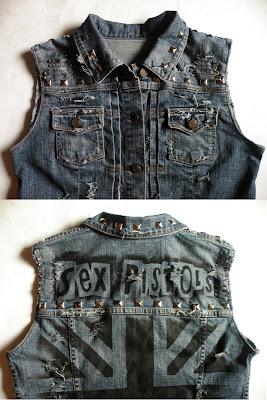 diy punk kamizelka ćwieki moda