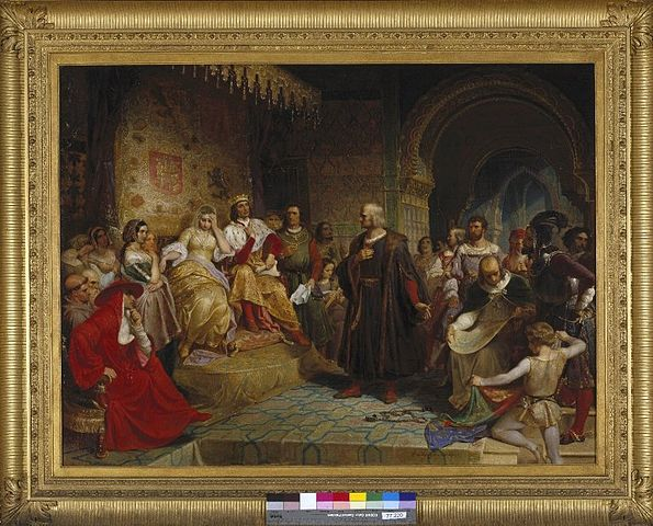 Colón ante la Reina Obra de Emanuel Leutze