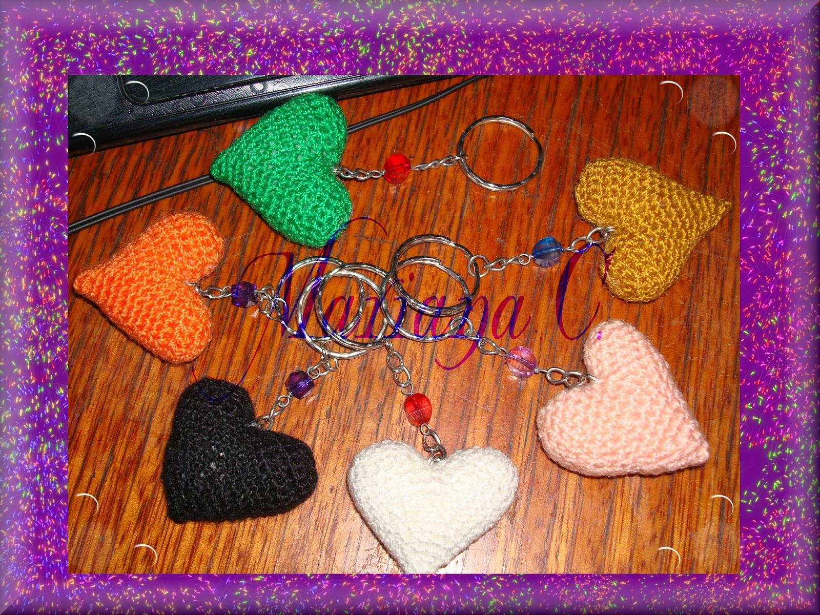 Amigurumi Llavero Corazon : Mariana teje y desteje con amor entregando pedidos de amigurumis