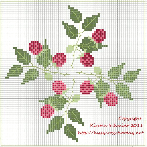 Цветы в горшках схемы вышивок
