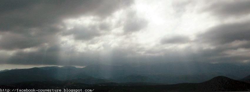 Une super image couverture facebook nuages