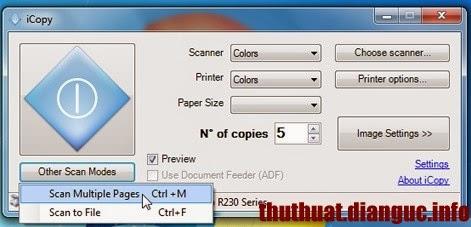 Scan văn bản bằng máy in thông thường