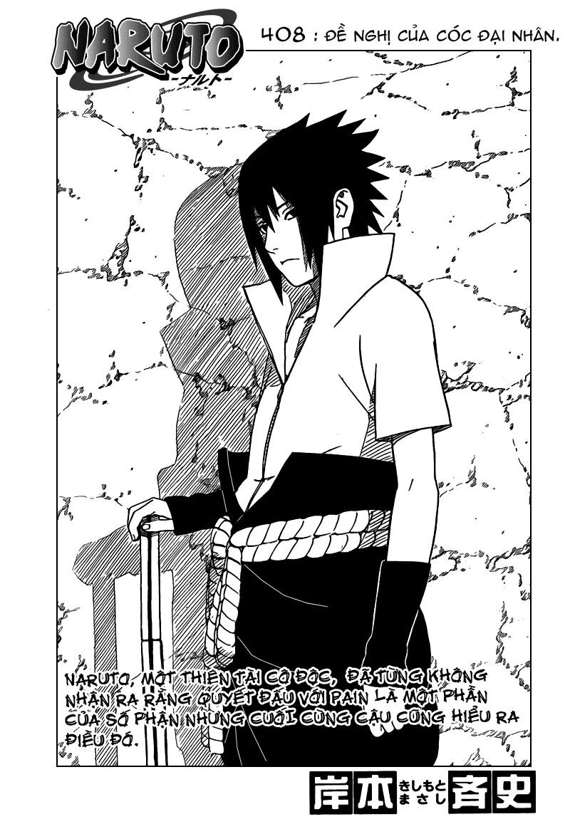 Naruto chap 408 Trang 1 - Mangak.info