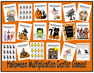 Picture of Fern Smith's Thirteen Halloween Multiplication Center Games