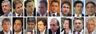 Contra impeachment, 16 governadores entregam a Dilma Carta pela Legalidade