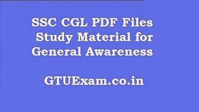 SSC CGL General Awareness PDF Study Material