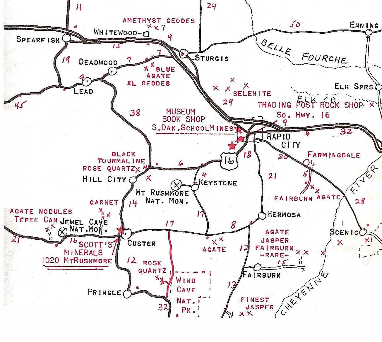 WritingDocs South Dakota - Map of so dakota