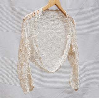 silky bridal shrug