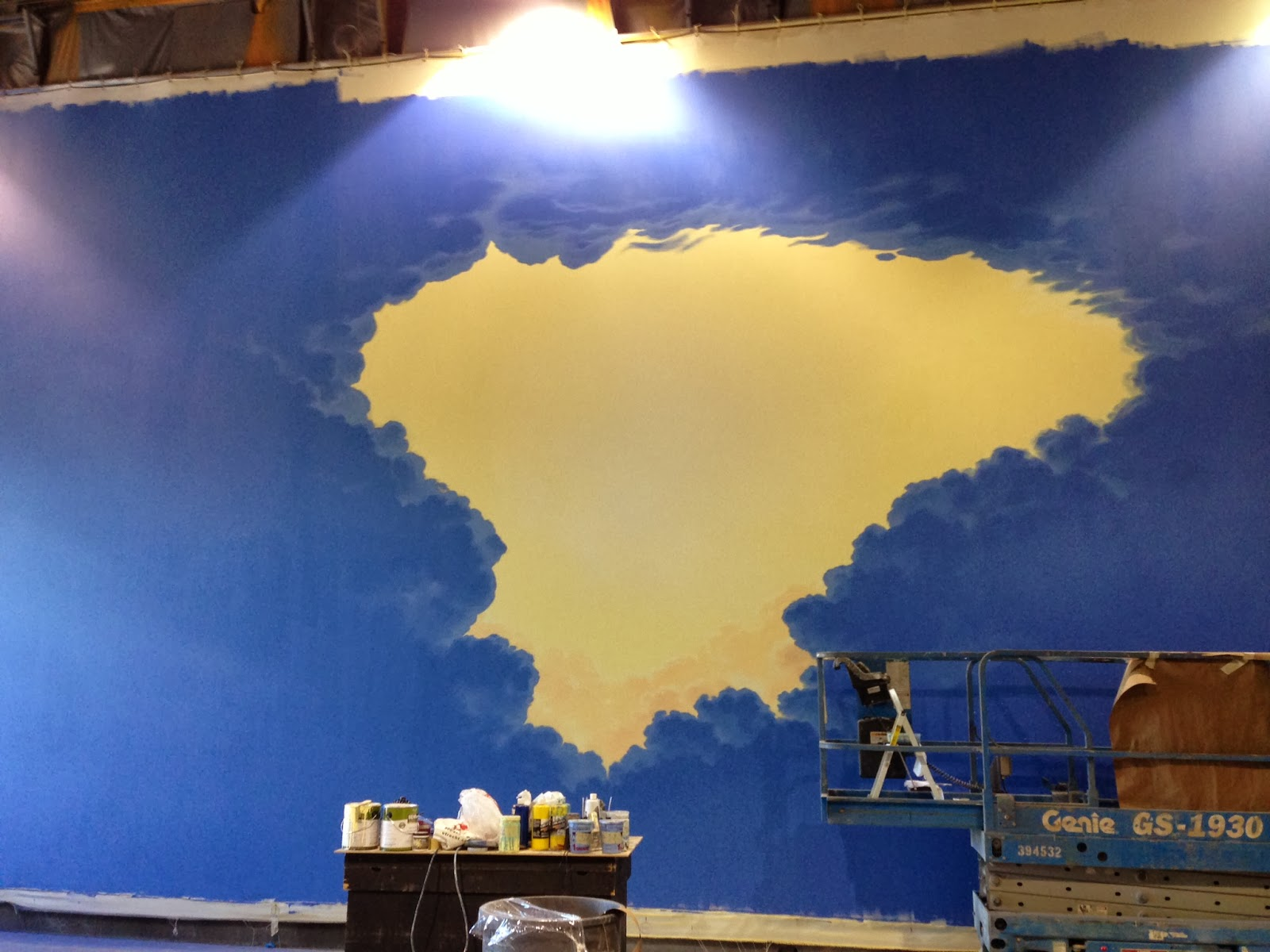 i took a job about a month ago doing some wall paintings in a home in west orem the family wanted a u s map painted on the wall along with a dr