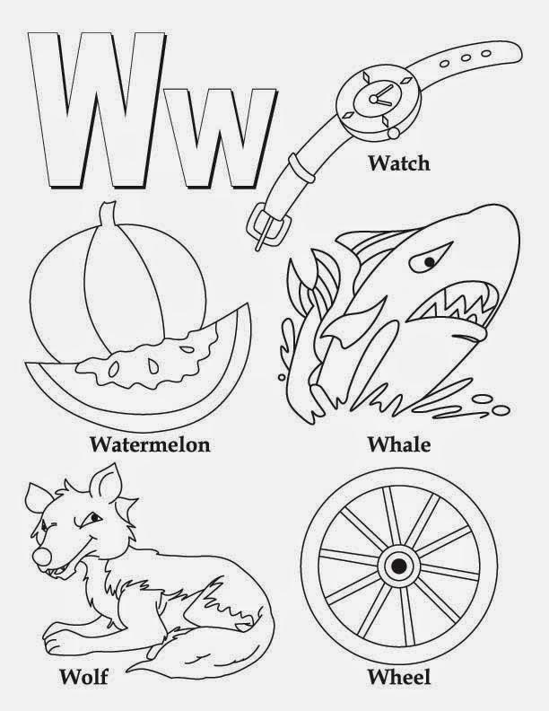 Kids Page Alphabet Letter W Worksheet Printable Coloring Worksheets