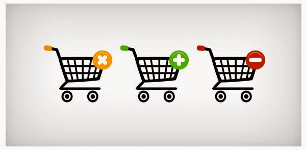 Three shopping web icons