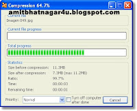 Compress 1 GB file into 7 MB file With KGB ARCHIVER