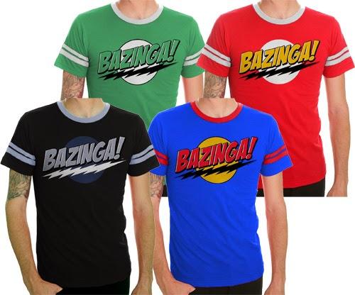 The Big Bang Theory merchandise Bazinga! catch phrase