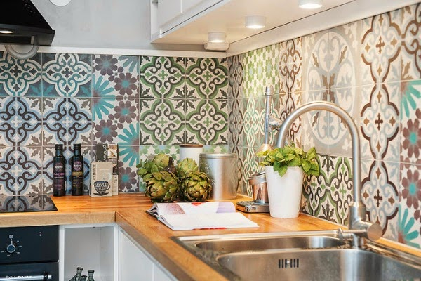 Cement tile kitchen backsplash 19 1 kindesign