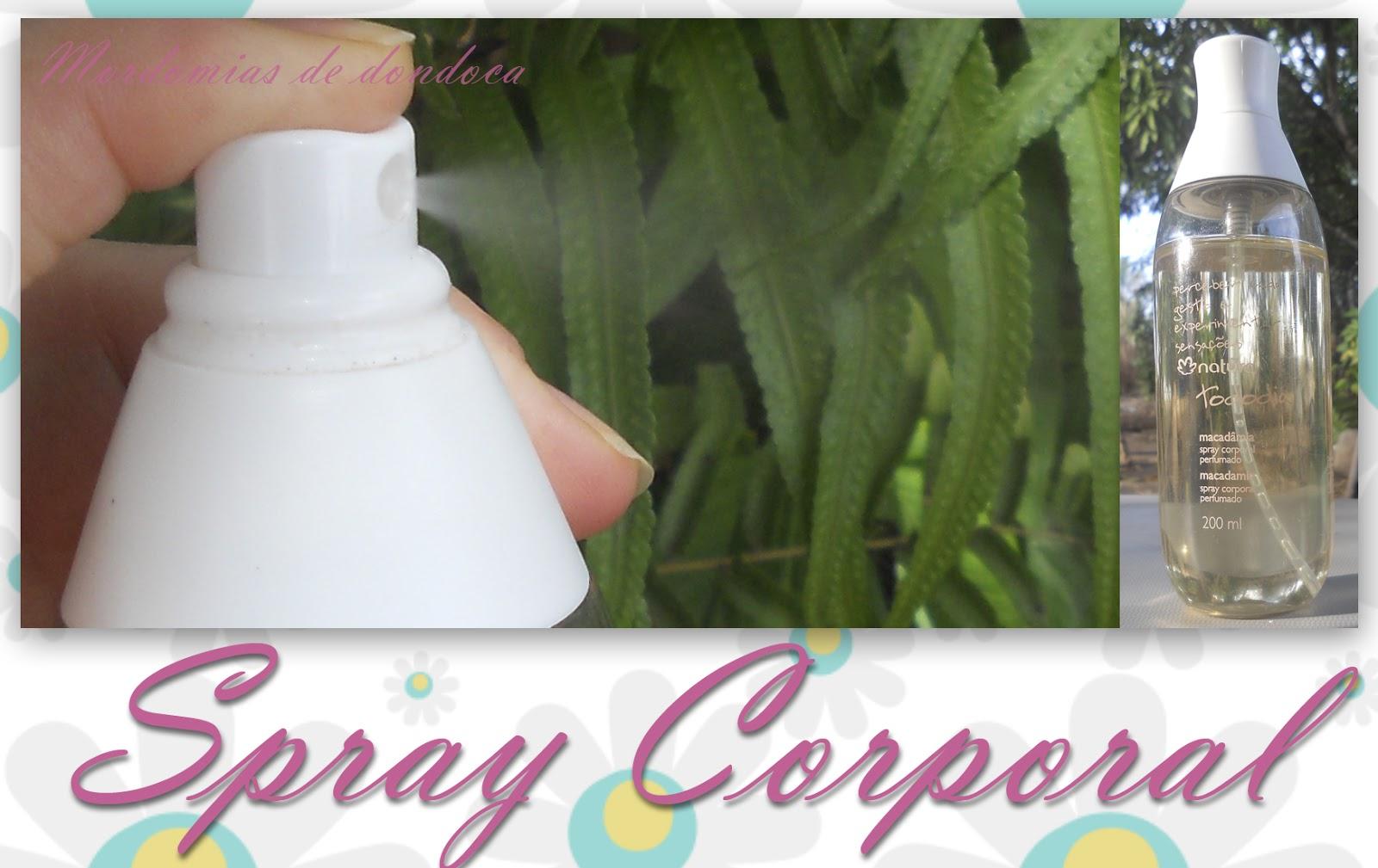 Spray Corporal Natura Tododia Macadâmia