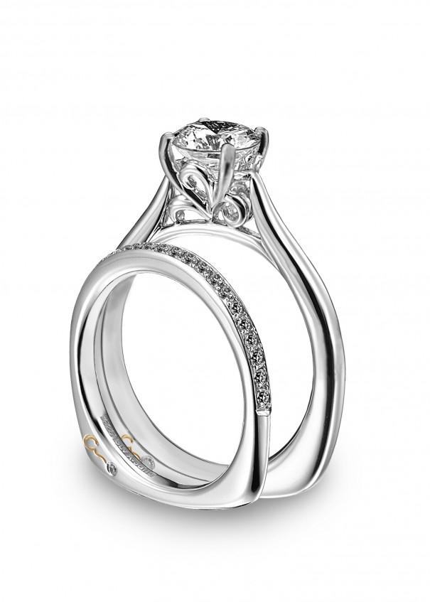 Engagement Ring With Platinum Diamond