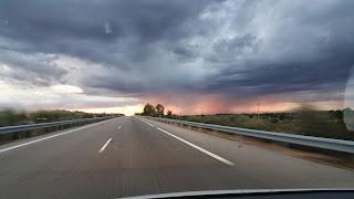 Tormenta camino de Toledo