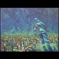 Ivan Krutoyarov, paintings 2013, stars are falling upward, expressive impressionism