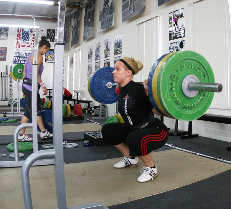 Kettlebell squats swing