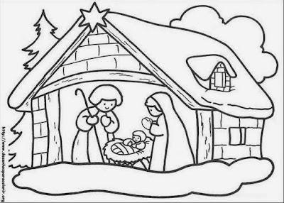 Desenhos para colorir sobre o natal - Evangélico
