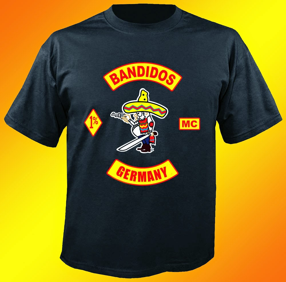 Bandidos MC Germany Black T-shirt One Side