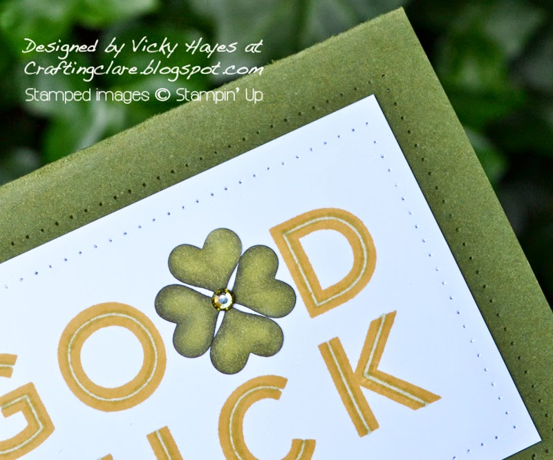 Four leafed clover made with Stampin' Up punch and coloured with blendabilities - buy online now!