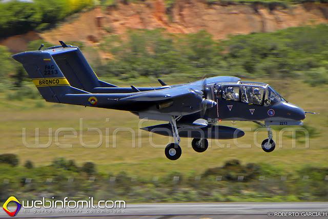 OV-10 Bronco de la Fuerza Aérea Colombiana