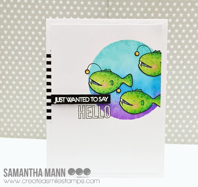 Hi There! Samantha Here Today On The Create A Smile Stamps Blog With A Cute  Little Ocean Inspired Card!