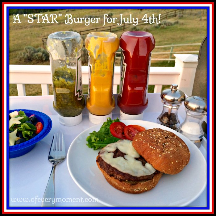 july 4th, star burgers, cheeseburgers, star decoration