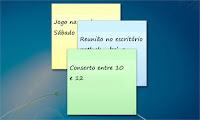 notas autoadesivas no Windows 7