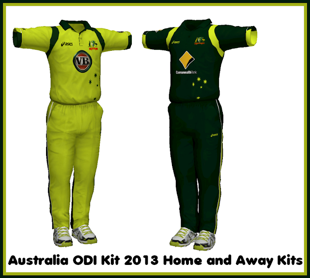 Australia 2013 Away and Home ODI Kit for EA Cricket 07 ...