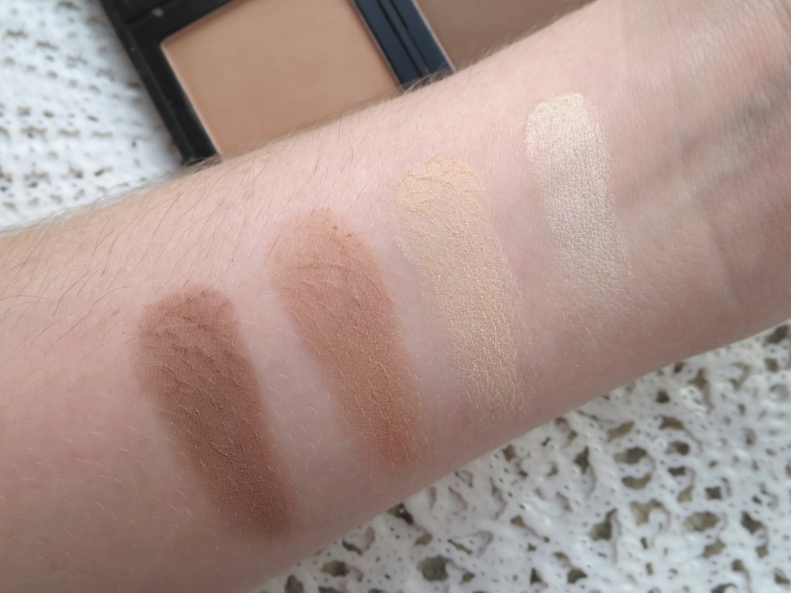 elf contour kit swatches. a picture of e.l.f. studio contour palette (swatch) elf kit swatches