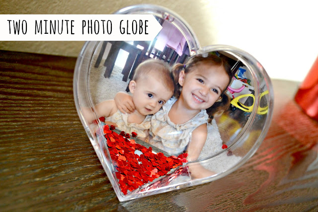 Easy last minute Valentine's Day photo gift photo snow globe from Walgreens #HappyHealty #cbias