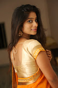 Midhuna New photo session in Saree-thumbnail-15